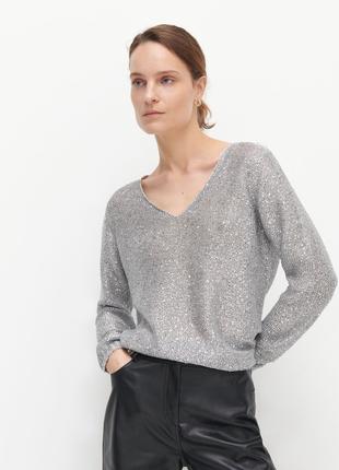 Классный джемпер свитер кольчуга