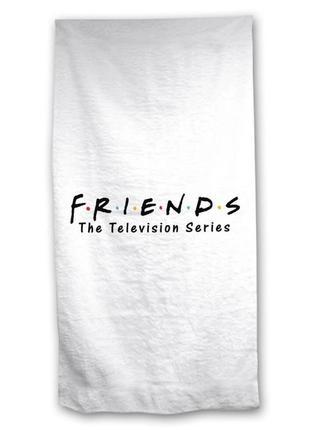 Пляжное полотенце friends телесериал друзья, 100% хлопок 70х140 см