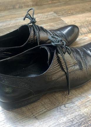 Мужские кожаные чёрные классические туфли carnaby💼ручная сборка👌