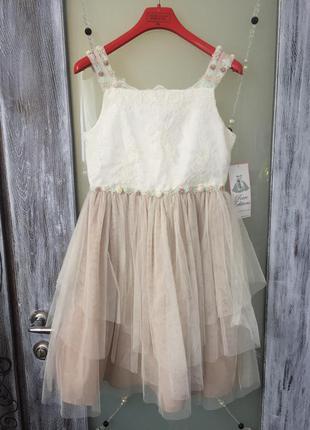 Новое нарядное платье на девочку 13-ти лет