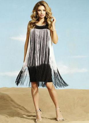 Платье туника с бахромой атм