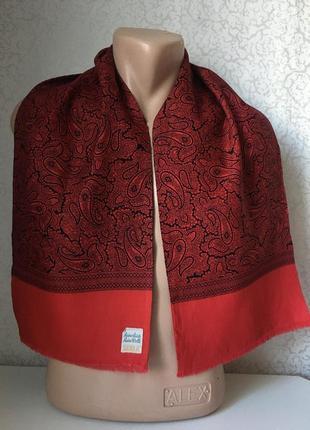 Мужской  шерстяной шарф 120*26