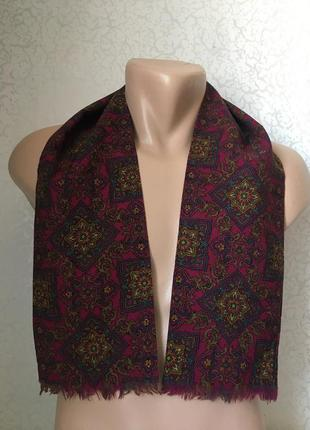 Мужской шерстяной шарф 105*15