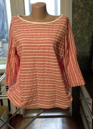 Лёгкая натуральная  блуза лонгслив  рубашка marks & spencer- хлопок батал