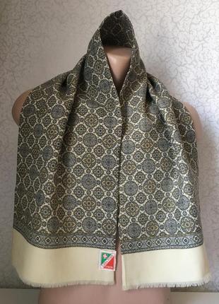 Итальянский шерстяной мужской шарф 112*27
