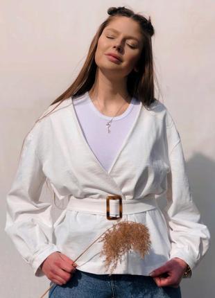 Жакет-блузка з об'ємними рукавами