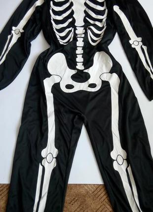 Брючный костюм скелета карнавальный  50 52  размер комбинезон унисекс