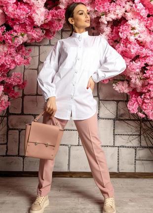 Женский деловой костюм с брюками и белой рубашкой (ко 4921 rmmr)