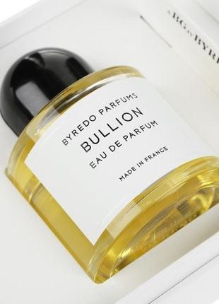 Byredo bullion оригинал_eau de parfum 5 мл затест_парфюм.вода