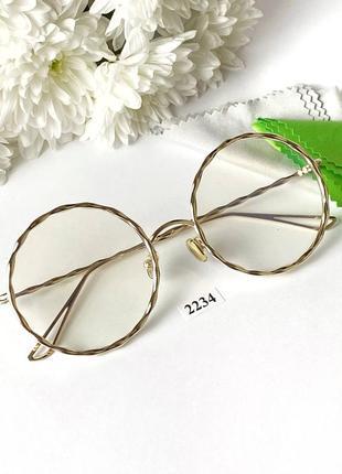 Имиджевые и компьютерные очки имиджевые очки в металлической оправе