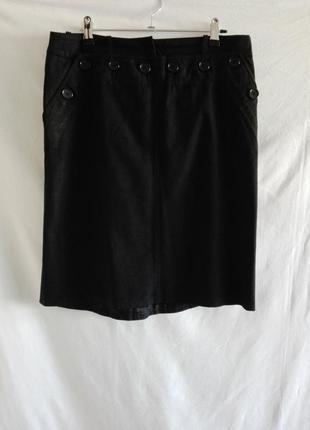 Классическая черная юбка bcbg max azria р. 42  №149