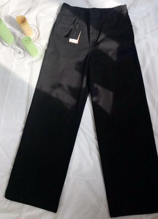 Прямі чорні коттонові штани