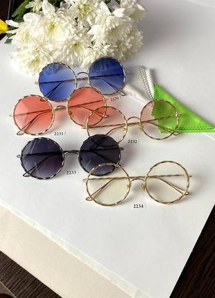 Чёрные очки от солнца металические
