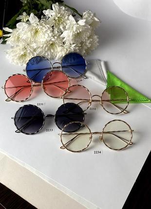 Имиджевые очки в металлической оправе