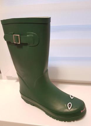 Нові гумові чоботи next 38р. зелені жабки гумаки чобітки резиновые сапоги