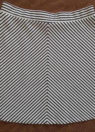 Юбка трапеция в полоску из плотной ткани аtmosphere. разм. евр.40, наш 46-48