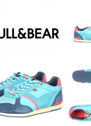 Новые замшевые бирюзовые кроссовки 39р, pull&bear