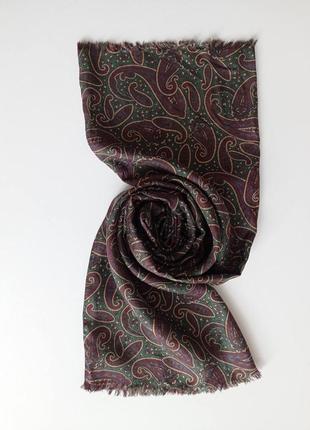 Красивенный статусный шелковый шарф мужской как bally женский унисекс шелк 100 %