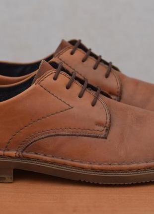 Коричневые кожаные туфли rieker, 47 размер. оригинал