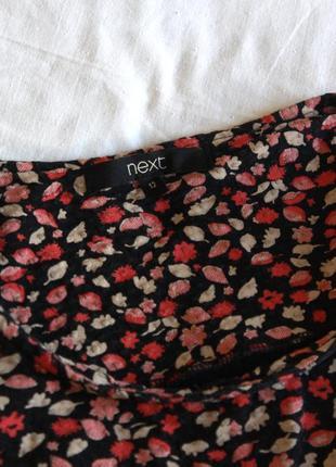 Хлопковое платье миди в цветочек next (размер 12-14)3 фото