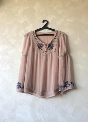 Лёгкая блуза топ блузка indigo collection акция, распродажа, скидки!