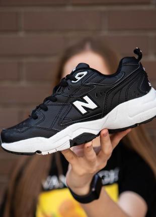 Женские кроссовки nb 608 чёрные