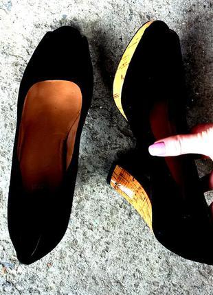 Туфли с натурального замша clarks