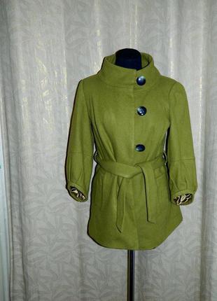 Пальто женское зеленое р. 44-46 topshop