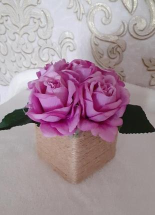 Букет троянда бузковий