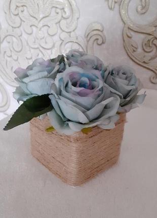 Букет троянда блакитна