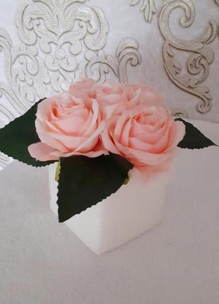 Букет троянда рожева