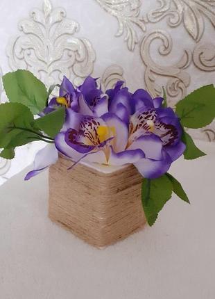 Букет орхідея фіолетова