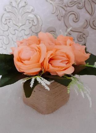 Букет троянда оранж