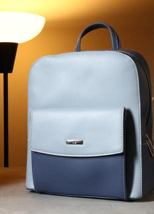 """Рюкзак женский, женский яркий рюкзак синего цвета в стиле """"loft"""""""