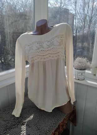 Блуза кофточка топ с длинным рукавом