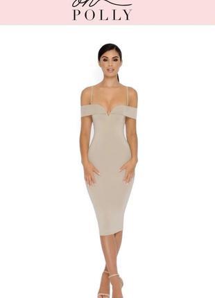Облегающее платье oh polly / облягаюче плаття вискоза
