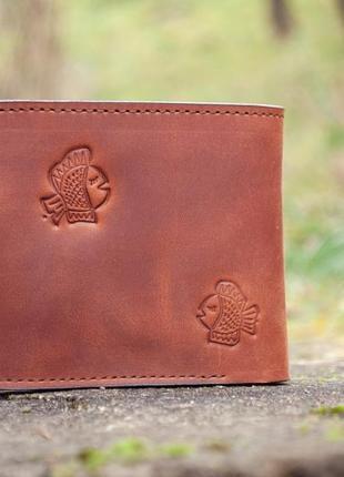 9 отделов маленький кожаный кошелек женский рыжий котик8 фото