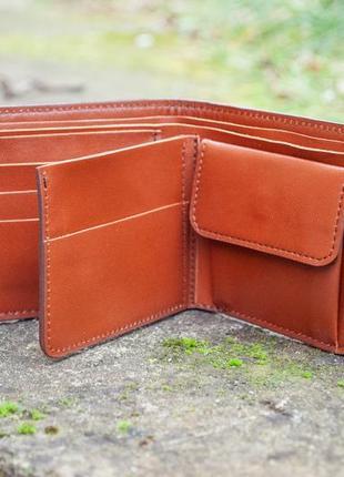 9 отделов маленький кожаный кошелек женский рыжий котик5 фото