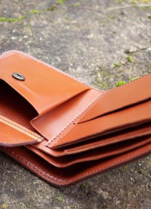 9 отделов маленький кожаный кошелек женский рыжий котик7 фото