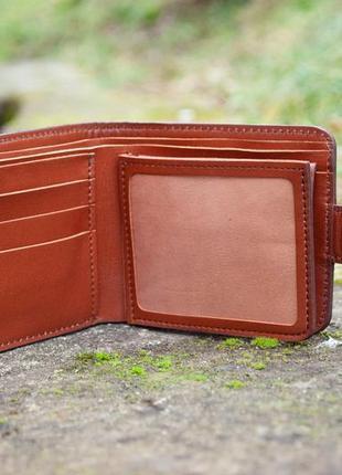 9 отделов маленький кожаный кошелек женский рыжий котик6 фото