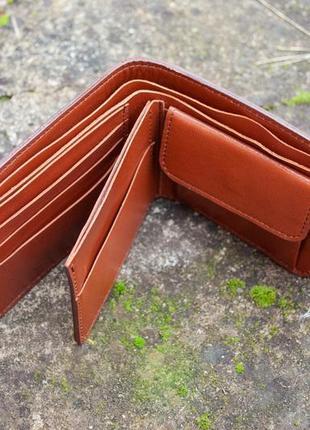9 отделов маленький кожаный кошелек женский рыжий котик4 фото