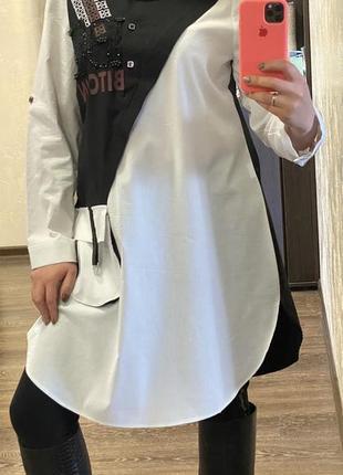 Платье - рубашка в больших размерах