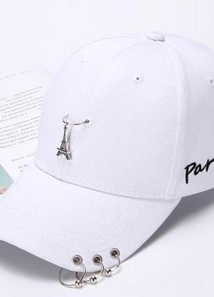 Новинка! женская кепка, бейсболка. кепка с кольцами париж paris