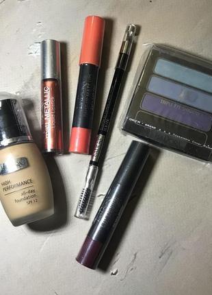 Набор швецкой косметики isadora карандаш для бровей помада тональный крем тени