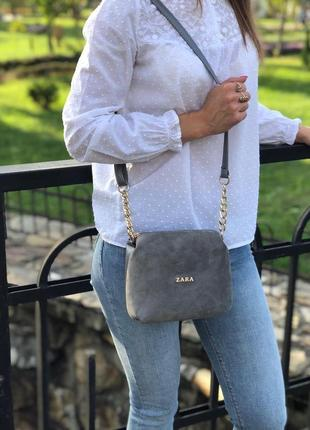 Новая замшевая сумочка через плечо