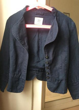 Піджак дорогого бренду noa noa/синий пиджак