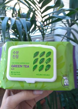 Holika holikaувлажняющие экспресс-маски с зеленым чаем набор масок