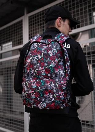 Рюкзак с принтом череп и розы женский / мужской
