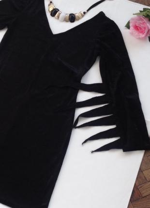 Велюровое платье для хеллоувина
