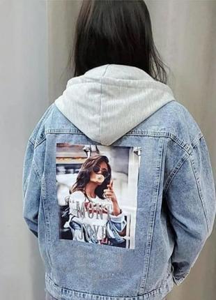 Женская джинсовая куртка oversize